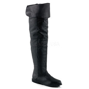 Shoes - Leather Comfortable Heel Cuff Thigh High Boots